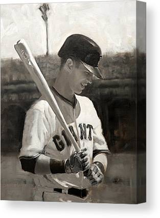 San Francisco Giants Paintings Canvas Prints