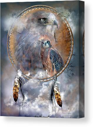 Hawk Spirit Art Canvas Prints