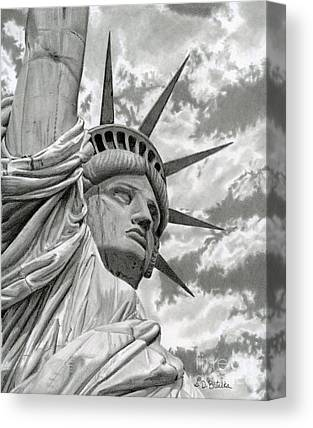 4th Of July Drawings Canvas Prints