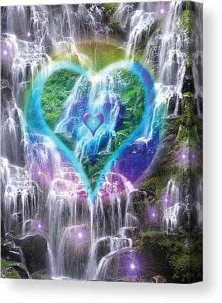 Heart Of Waterfalls Canvas Prints