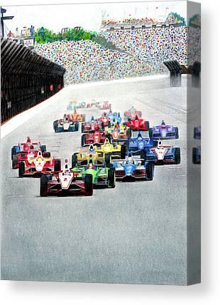 Indy Car Mixed Media Canvas Prints