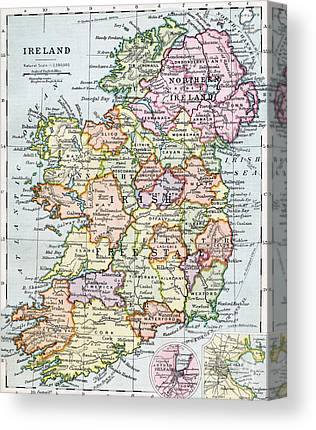Cartography Drawings Canvas Prints