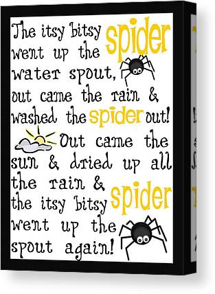 Itsy Bitsy Spider Canvas Prints