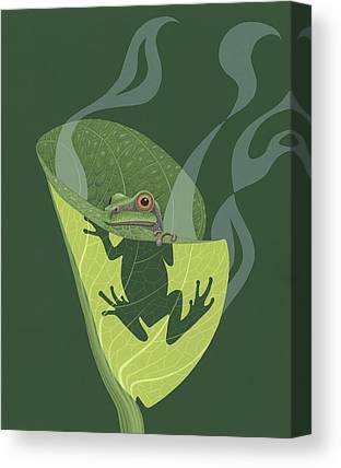 Frogs Canvas Prints