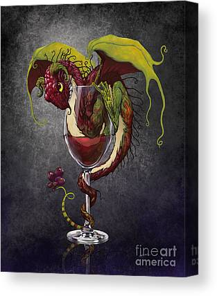 Wine Glasses Digital Art Canvas Prints