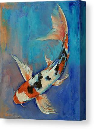 Butterfly Koi Canvas Prints