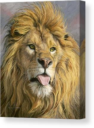 Male Lion Canvas Prints