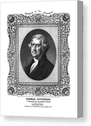 Thomas Jefferson Drawings Canvas Prints