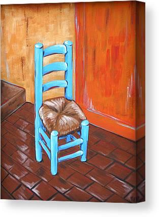 Ladderback Chair Paintings Canvas Prints