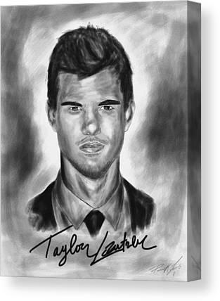 Taylor Lautner Sharp Drawing Canvas Prints
