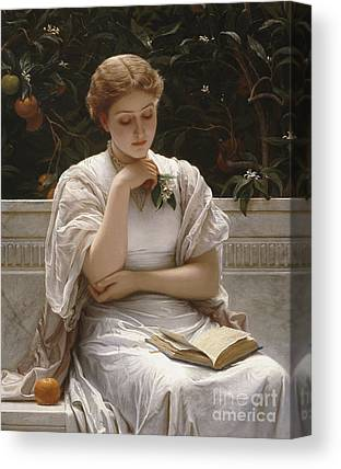 Woman Reading Canvas Prints