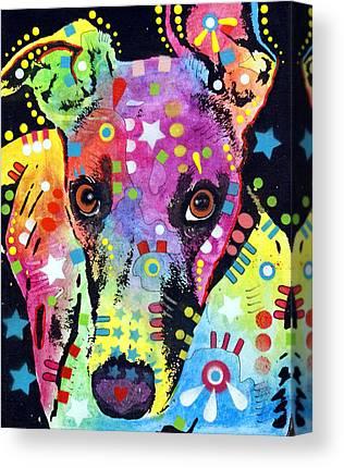 Greyhound Abstract Art Canvas Prints
