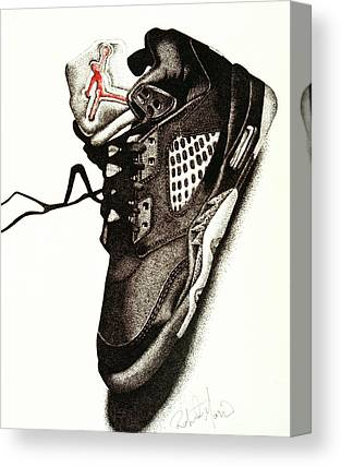 Air Jordan Drawings Canvas Prints