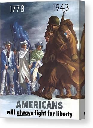 United States Propaganda Canvas Prints