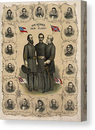 Confederate Army Canvas Prints