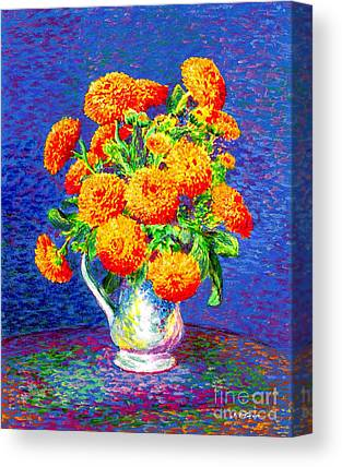 Aster Paintings Canvas Prints