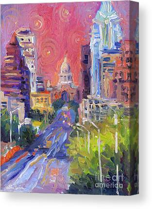 City Streets Drawings Canvas Prints