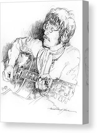 John Lennon Drawings Canvas Prints