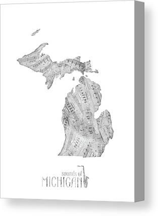 Detroit Tigers Digital Art Canvas Prints