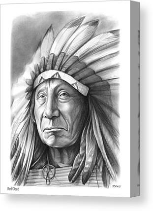 Chief Red Cloud Canvas Prints