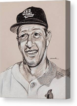 Stan Musial Drawings Canvas Prints