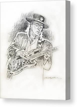 Stratocaster Drawings Canvas Prints