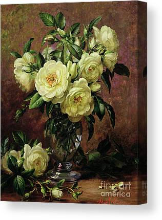 White Roses Canvas Prints