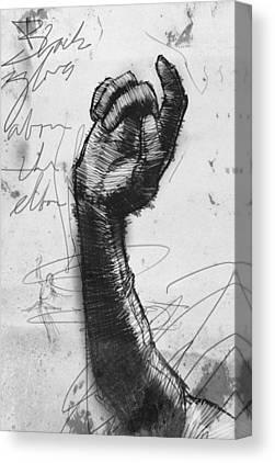 Opera Gloves Drawings Canvas Prints