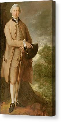 Costumed Figures In Landscape Canvas Prints