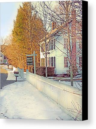 New England Snow Scene Digital Art Limited Time Promotions