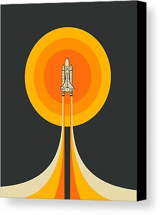 Space Ship Canvas Prints