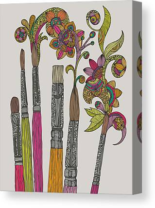 Brushes Canvas Prints