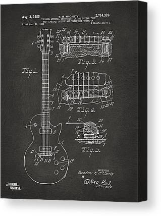 Guitar Drawings Canvas Prints