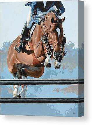 Jumping Horse Canvas Prints