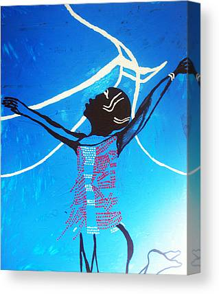 Dinka Dance Mixed Media Canvas Prints