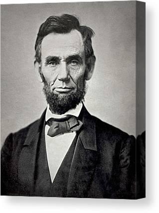 Abraham Lincoln Images Canvas Prints