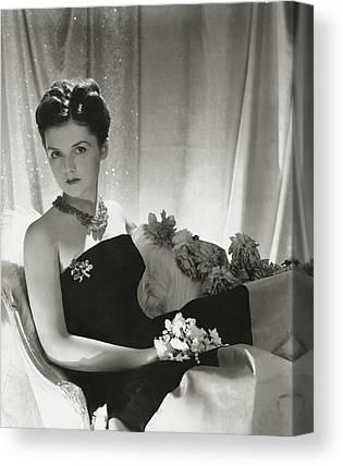 Strapless Dress Photographs Canvas Prints