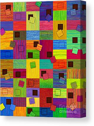 Abstract Montage Drawings Canvas Prints