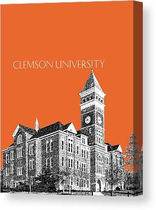 Clemson Digital Art Canvas Prints