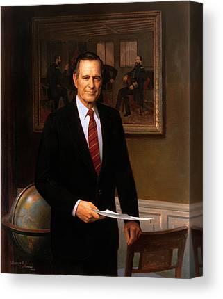 George Bush Canvas Prints