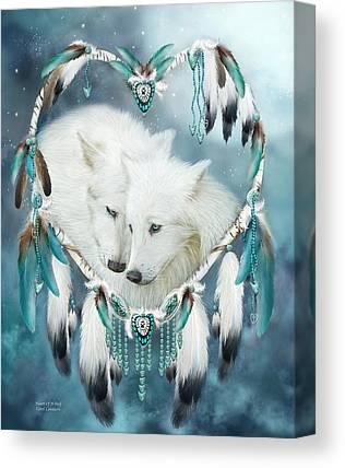 Wolves Mixed Media Canvas Prints