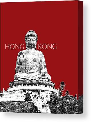 Buddha Sketch Canvas Prints