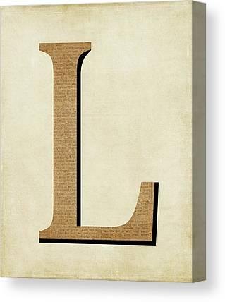 Letters Canvas Prints