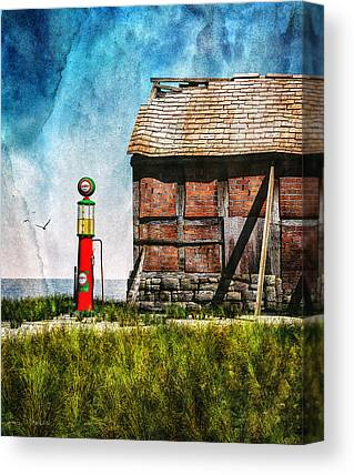 Maine Barns Mixed Media Canvas Prints