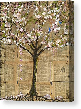 Tree Blossoms Mixed Media Canvas Prints