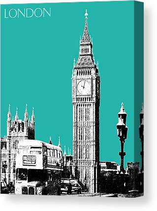 England Digital Art Canvas Prints