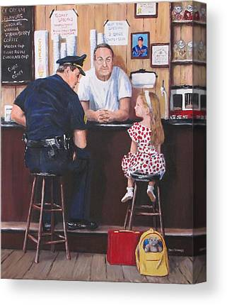 Police Community Relations Canvas Prints