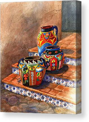Clay Pottery Canvas Prints