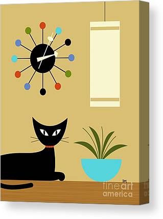 Tan Cat Canvas Prints