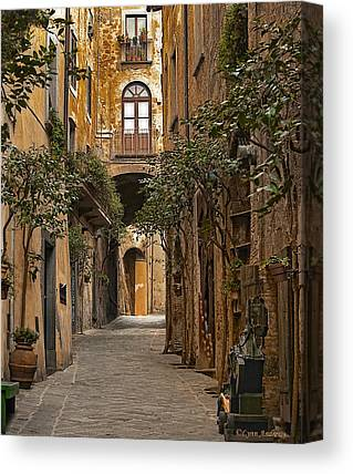 Italian Street Canvas Prints